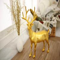 FREE SHIPPING!!!Christmas decorations, Christmas deer, window decorations, gold plating deer, place adorn desktop