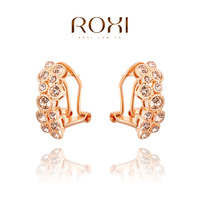 ROXI Free Shipping Fashion Jewelry Earrings Rose Gold Plated Genuine Austrian Crystals 100% Handmade Nickle Free 2020005405