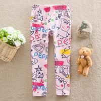 Peppa Pig Legging For Baby Girls Kids Wear Lovely 18m-6y Spring Autumn Pants Fashion Girls Lovely Long Legging With Print DA438