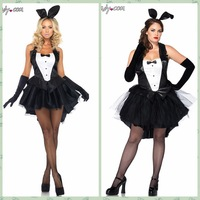 FreeShip LAN9333 Top Quality 2014 New Rabbit Performance Party Cosplay Classic Halloween Costume For Female Christmas Costume