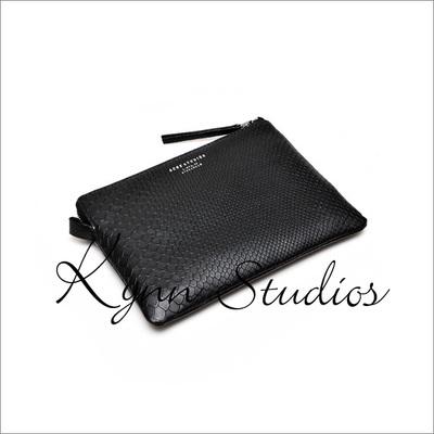 Free shipping 2014 new ACNE New Occident simplicity trade tide Couture leather handbag Wristlet Clutch Bag Purse Black Bag(China (Mainland))