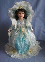 Classic ancient  retro Exquisite fashion European Victorian style porcelain doll simulation princess doll gift for girl