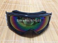 2015 New snowboard skiing goggle anti-ultra violet & fog skiing glasses Men snow goggles skiing glasses mask