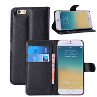 Wallet Phone Case Stand Design PU Leather Business Man For iphone 6 Case Cover With Card Holders Free Shipping
