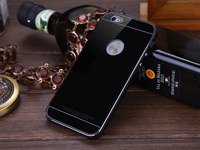 Luxury Metal Hybrid Case for iPhone 6, Premium Aluminum Frame+Tempered Glass Back Cover Phone Cases for Apple iPhone 6 (4.7)