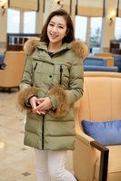 Plus size Women's Winter 90% Duck Down Winter Jacket Coat Long Parkas with Hat Fur Parka Womens XL PA-803