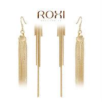 ROXI Free Shipping Gift Delicate Large Zircon Earrings Gift to Girlfriend is Beautiful Pure Handmade Fashion Elegance 2020817450