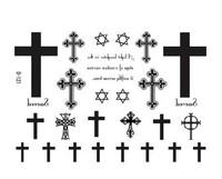 the Cross temporary tattoo,hexagram small patterns Star ,waterproof, free shipping