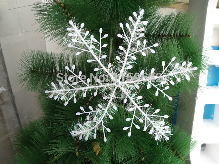 New year christmas supplies 10 cm christmas ornaments instant snow,snow flake decoration 15 pieces / lot Free shipping(China (Mainland))
