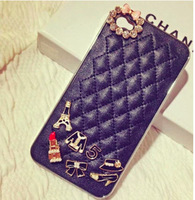 For iPhone 6 Case 4.7 inch PU Leather Diamond Luxury Lady Gift Noble Girl Fashion For iPhone6 Apple Cover Hot Sale Wholesale
