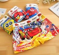 6 pcs 2014 in the latest fashion cotton cartoon image printing design boys briefs shorts children underwear baby kids underwear