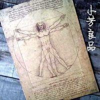 "Free Shipping Large Posters Vintage Style -Leonardo Da Vinci's manuscript Vitruvian Man&Vintage Style Retro Paper Poster 20""X15"""