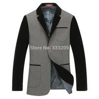 New Design Men's Blazer Fashion Business Suit Casual Formal Suit 2014 Brand Blazers Men Slim Fit Coats Comfy Outwear Joacket Hot