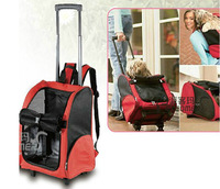 Pet Trolly Luggage  Dog Rolling  Backpack Pet Trolley Case for Small dog/ cat  Free shipping