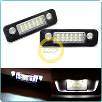 2X Led Car Light White 18 SMD LED License Plate Light Lamp Bulbs For Ford Fiesta 01/11-up Fusion 01/11-up Mondeo MK2