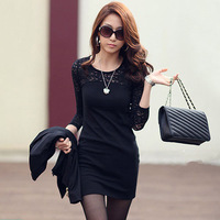 New Fashion Hot Sale Solid Women Dresses Casual Lady Dress Plus Size Free Shipping A1011