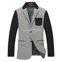2014Hot Spring Fall Men's Blazer Formal Business Suit Coats Fashion Slim Fit Casual Suit Jacket Brand Men Upscale Blazer Outwear