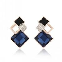 Korean fashion damond crystal beauty jewelry earrings female OL temperament Korean wild decorative earrings