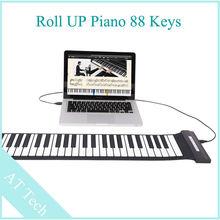 1 шт. электропиано 88 ключи USB вручную рулон пианино кремний пианино рулон вверх для начинающие домашнее обучение сообщение