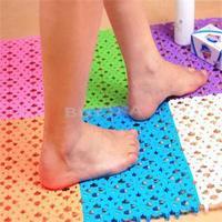 2014 New FA Delicate Popular Plastic Rubber Non-slip Shower Convenient Bathroom Massage Mat Mosaic Bath Mat Random Color AF