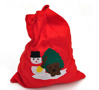 Wholesale 5pcs/lot Red Fabric Christmas Gift Bag / Mix Pattern Style Santa Claus'Bag for Party Event Decoration Xmas