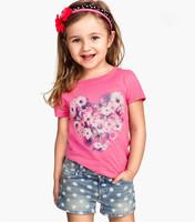 2014 Children's Summer  Clothing Cute Girls Suit Jacket Dot Jeans Piece Suit K6207