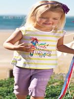 Big Promotion Girls Clothing 2-Pcs T-Shirt Girls' Fashion Sleeveless shirt Print Clothes K6298