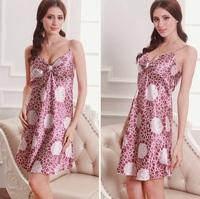 sexy silk nightgown big yard silk female pajamas _S01E
