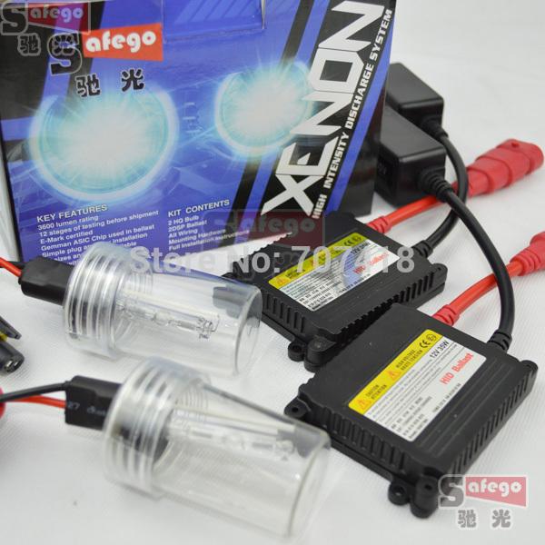 Источник света для авто Safego 35W H7 H4 H1 H3 HB3 9005 HB4 9006 H8 H9 H10 H11 880 H27 9007 5000 k, 6000K 8000k