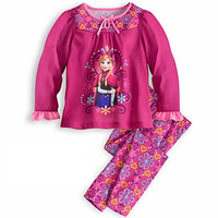 Child Clothes Girl Suit Long Sleeve Cartoon T -Shirt Red Pants Two Piece Children Clothing K6253