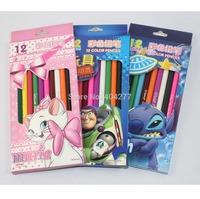 12 color/set Cute Marie Stitch Toy Story CartoonMulti-colour Pencils