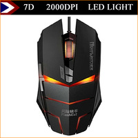 New Surprise !  7D Buttons 2000 DPI Mouse Gamer Wired Gaming Mouse Mice LED Light Optical For Desktop PC Laptop Free Shipping