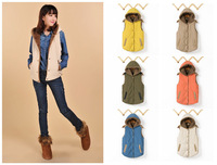 2014 Women's Autumn and Winter Hooded Thick Warm Down Cotton Waistcoat Cotton Vest plus Size M-XXXL