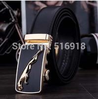 Frss Shipping High Quality 2014 New Men's Genuine Leather Belts Man Automatic Buckle Belt Luxurious Waist Belts 5 colors LMZDK22