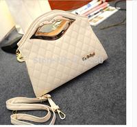 2014 new fashion personality Lingge woman leather handbag handbag / diagonal package free shipping