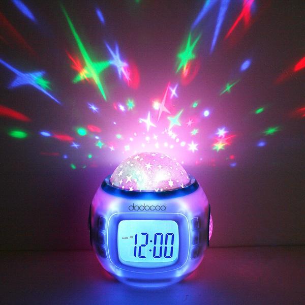 Music Starry Star Sky Digital Led Projection Projector Alarm Clock Calendar Thermometer horloge reloj despertador(China (Mainland))