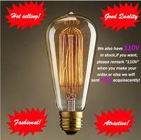 Fashion Incandescent Vintage Light Bulb,DIY Edison Bulb,Chirstmas Decoration lamp E27/220V/40W 60*140mm Pendant Lamps 10pcs/lot