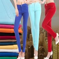 Women's pants Capris Trousers Women Autumn Spring Summer Girl Sexy Fashion 26 27 28 29 30 31 red blue purple dafz067