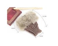 2015 Newest gloves Hot Girl Warm Knitted Faux Fur Fingerless Winter Long Gloves Arm Warmer Mittens 5005