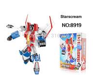 New Transforms Genuine 4 Starscream Robot Model Assemble Transformation Action Figure building blocks intellective Toys