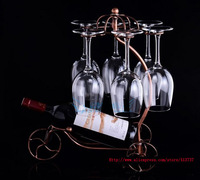 Golden/bronze 2colors fashion royal style romantic restoring ancient ways red wine holder, wine glass upside down placed