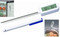 Hot novelty New Digital food Thermometer Alarm function Timer Function with 2 magnets Rohs Free shipping