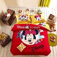 Winter explosion models Mickey Mouse cartoon bedding cotton denim activity cotton bedding set Cotton Bedding