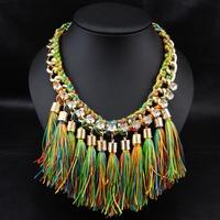 Wholesale tassel Jewlery Collares Fashion Women Accessories Bijoux Collar Necklace Statement Necklace