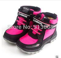 New 2014 Winter Warm Kids Boots Fashion Plus Velvet Boys Girls Shoes Children Snow Boots