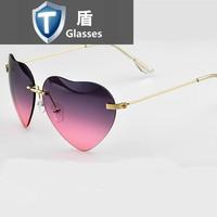 Harajuku colors gradient loving personality star shape rimless sunglasses peach heart sunglasses oculos de sol feminino