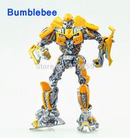 New Robot 4 Transforms Leader Bumblebee Mini Robot doll Model Transformation Action Figure Model Pendant Toys