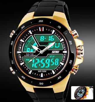 Readeel мужчины спортивные часы водонепроницаемый мода свободного покроя кварцевые часы цифровых и аналоговых военная многофункциональные мужские спортивные часы