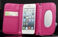 """For iPhone 6 luxury carrying handbag leather case with wallet card set mirror for iPhone 6 ( 4/7"""" )"""