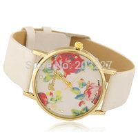 2014 New Fashion GENEVA Rose Flower Watches Women Dress Watch stylish womel watch Quartz Watches